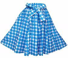 Skirt Fit M L XL 1X 2X Plus African Wax Print Ankara Blue Polka Dot NWT 16321 MN