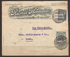 COLOMBIA. 1928. INTERNAL COMMERCIAL AIR MAIL COVER. BARRANQUILLA TO HONDA. RUMIE