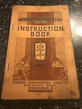 1938 MORRIS-COMMERCIAL TRUCKS CV RANGE 30-cwt & 40cwt OWNERS INSTRUCTION MANUAL