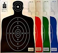 Paper Shooting Targets Silhouette Gun Pistol Rifle B-27E  23x35 KOGC