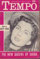 Tempo Digest July 27 1953 Iran's Soraya Cheesecake Pin Up 091218AME2