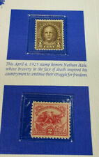 Nathan Hale 1925 1/2c stamp an Anniv. Battle of White Plains 1926 2c Mint Unused