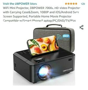 Wireless Full HD 7000 Lumens 1080P Portable Home Movie Video LCD Projector HDMI