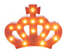 Decorative and Fun Pink Plastic Light Up Crown with 15 Warm White Lights