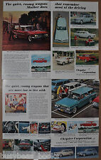 1961 CHRYSLER Station Wagons advertisements x2, Plymouth Fury Dodge Dart Valiant