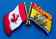 Canada / New Brunswick Flag Patch Embroidered Iron On Applique
