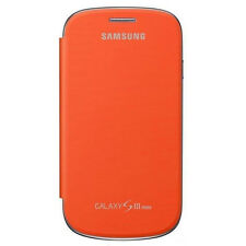 Originale Flip custodia Cover per Samsung Galaxy S3 Mini I8190 - Arancio