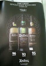 Ardbeg scotch  trio poster 18 by 27 inch