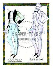 Reprint - Jules Verne Captain Nemo Paper Doll - Donald Hendricks