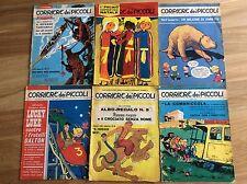 CORRIERE DEI PICCOLI  6 RIVISTE ANNI 1964 1966 E 1967 TOTO' TRITOLO LUCKY LUKE
