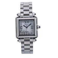 Chopard Happy Sport 27/8349-23 Lady's Quartz Watch 7 Diamonds White Dial SS 27mm