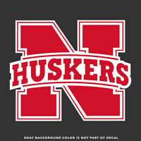 "Nebraska Cornhuskers Huskers Decal Sticker - 4"" and Larger - 2 Colors - Glossy"