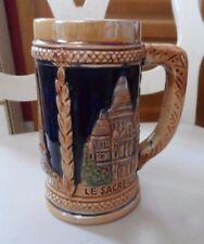 """Ceramic stein 5.5"""" , La Tour Eiffel, Le Sacre Coeur, Otre Dame De Paris"""