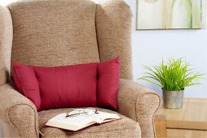LUMBAR / LOWER BACK SUPPORT CUSHION *Fits any armchair* MADE IN UK *3 Colours*