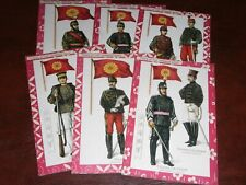 More details for original set of six tuck military postcards - types of the japanese army, 6089.