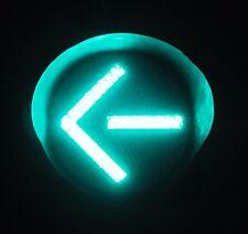 "12"" LED Green Arrow Metal Traffic Signal Light Cap Visor"
