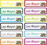 Kinder Wunsch Namen Aufkleber Schule Kita Kindergarten Etiketten Nashorn E10