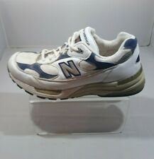 New Balance Men's White with Blue Suede N' Durance 992 Tennis Shoes Sz 7 Sneaker