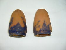 2 TULIPES PATE DE VERRE ART NOUVEAU ART DECO SHADES PASTE GLASS ART NOUVEAU