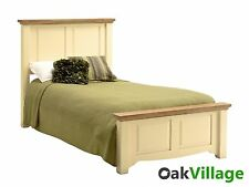 Oak Cream Painted Single Bed 3ft / Bedroom / Solid Wood / Brand New Dorchester