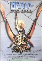 HEAVY METAL MOVIE POSTER 1981 ANIMATION FILM R1995 ONE SHEET