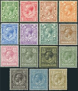 1912-22 Royal Cypher Sg 351-396 Lightly Mounted Mint Single Stamps