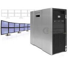 HP Z800 Trading 16 Monitors PC 2x X5560 2.8GHz 24GB RAM 600GB SSD 4x NVS 510