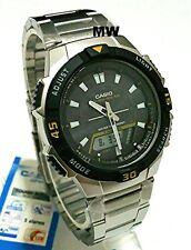 Casio Tough Solar Mens Sports 5 Alarms World Time Watch AQ-S800WD-1EV AQS800WD