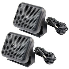 2PCS CB Radios External Speaker ham Scanner For Kenwood Motorola ICOM Yaesu NEW