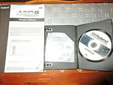 Roland Juno G Owners Manual - printed and DVD, also Editor Disc