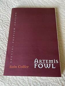 Artemis Fowl Special Preview Edition Book - Galley Proof 2001 Eoin Colfer