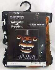 New Five Nights At Freddy's Fazbear's Face Super Soft Plush Throw Blanket 48X60""