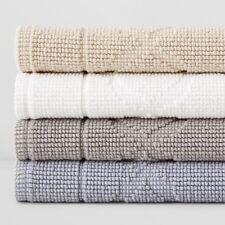 "Hudson Park Scalloped Cotton 18"" x 26"" SET OF 2 Bath Mats BEIGE $110 G4158"