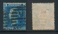 GB, 1858 2d blue SG45, plate 9, cat £15 fine used, corner letters  CK