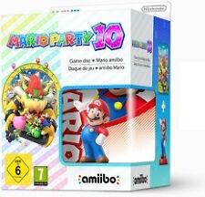 Mario Party 10 Wii U Game Inc X4 Amiibo RARE Mario* and Bag Bundle