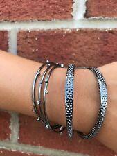 💖🌟NWT Kendra Scott Tatum Bracelet in Metal White CZ/Hematite🌟💖