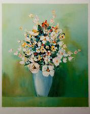 Franz Schlitz Litho signée EA  Artprice Akoun Expressionnisme Fleurs