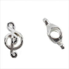 20x 151638 Charm Vintage Silvery Music Note Alloy Beads Fit European Bracelet