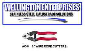 WIRE ROPE CUTTERS - CUT STAINLESS STEEL WIRE ROPE