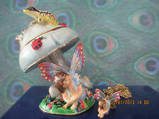 The Dry Spot Fairy' ~ by Sheila Wolk ~ Bejeweled Trinket Box & Necklace #65105