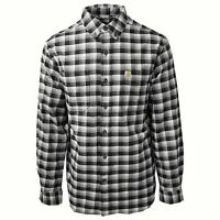 CARHARTT Mens Rugged Flex Hamilton Plaid L/S Button Shirt Black 3XLT Relaxed Fit