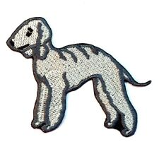 Bedlington Terrier Iron On Embroidered Patch