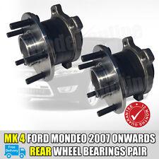 Par De Ford Mondeo MK4 Trasero Wheel Bearings concentradores X 2 + ABS Sensor 2007 en adelante