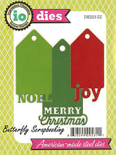 Christmas Tags American made Steel Dies by Impression Obsession DIE223-ZZ New