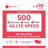 <$10/Mo Red Pocket Prepaid Wireless Phone Plan+Kit: 500 Talk 500 Text 500MB