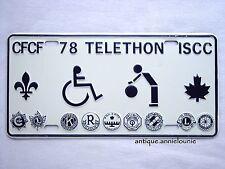 *1978 CFCF TELETHON ISCC Vanity Metal Vintage License Plate