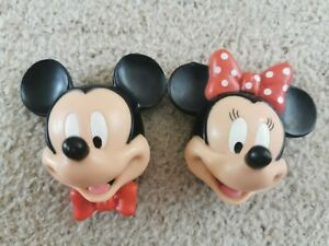 Vintage Mickey & Minnie Mouse 3D Fridge Magnet, Head, Face