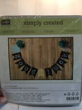 Stampin Up Retired Simply Created Kit Chalkboard Banner NIP