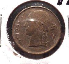 CIRCULATED 1951 1 FRANC BELGIUM COIN!! (62515)