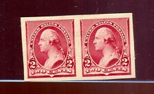 Scott #219DP5 Washington Mint Proof Imperf Pair on Stamp Paper (Stock 219D-p1)